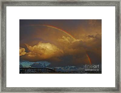 Framed Print featuring the photograph 2- Singer Island Stormbow by Rainbows