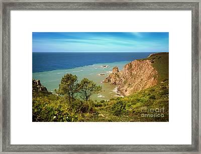 Sintra Coastline Framed Print by Carlos Caetano