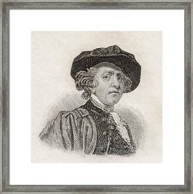 Sir Joshua Reynolds, 1723 To 1792 Framed Print by Vintage Design Pics