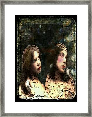 Framed Print featuring the digital art Two Sisters by Delight Worthyn