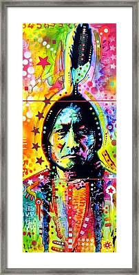 Sitting Bull Framed Print by Dean Russo