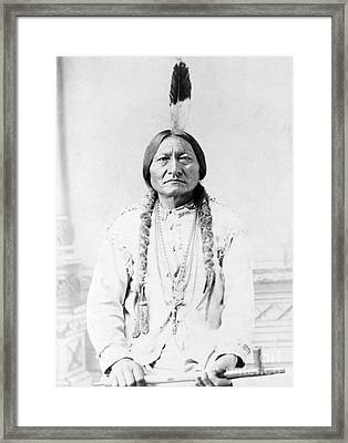 Sitting Bull, Lakota Tribal Chief Framed Print by Science Source
