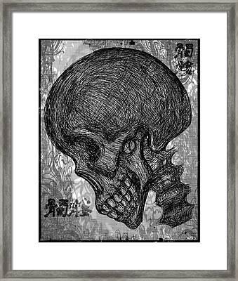 Gothic Skull Framed Print