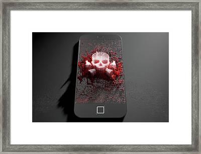 Skull And Cross Bones Cloner Framed Print by Allan Swart