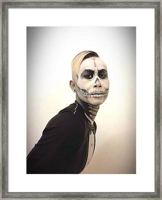 Skull And Tux Framed Print by Kent Chua