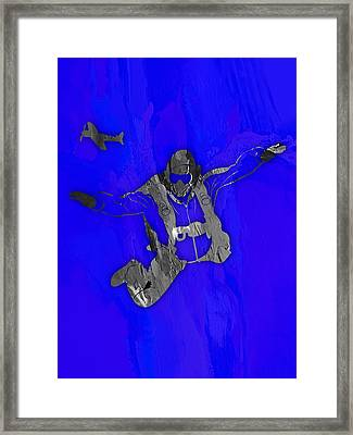 Skydiving Collection Framed Print by Marvin Blaine