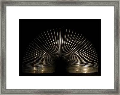 Slinky. Framed Print by Angela Aird