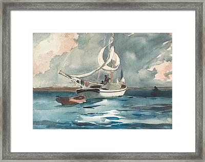 Sloop, Nassau Framed Print by Winslow Homer