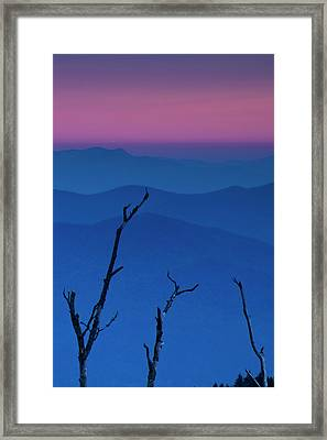 Smokies Sunset Framed Print by Andrew Soundarajan