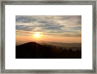 Smoky Mountain Sunset Framed Print by Doug McPherson