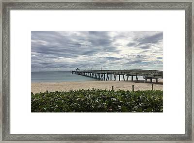 Smooth As Glass Framed Print