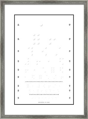 Snellen Chart - Braille Framed Print by Martin Krzywinski