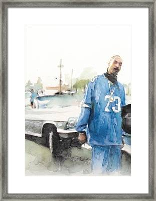 Snoop Detail Framed Print
