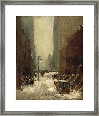 Snow In New York Framed Print