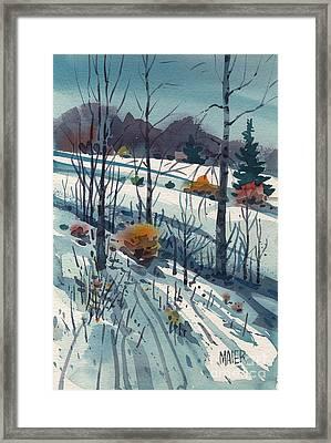 Snowy Hillside Framed Print
