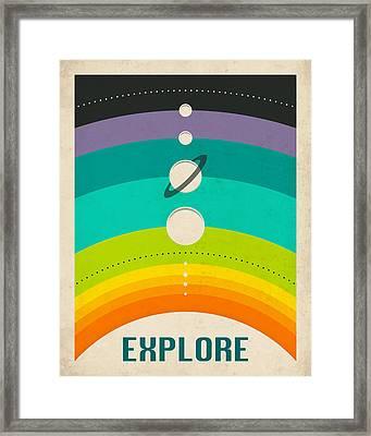 Solar System Framed Print by Jazzberry Blue