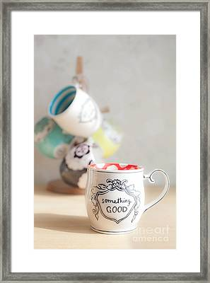 Framed Print featuring the photograph Something Good by Aiolos Greek Collections