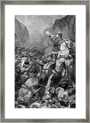 Song Of Roland, 778 A.d Framed Print by Granger