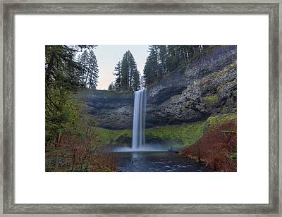 South Falls At Silver Falls State Park Framed Print