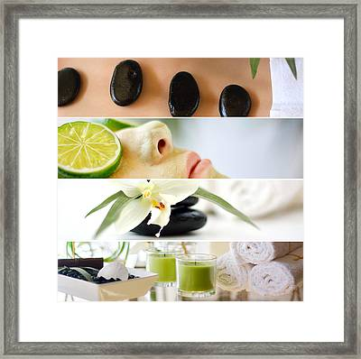 Spa Collage Framed Print by Serena King