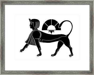 Sphinx - Mythical Creature Of Ancient Egypt Framed Print