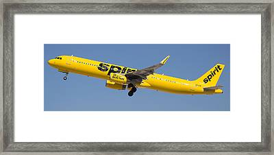 Spirit Airline Framed Print