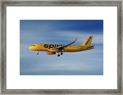 Spirit Airlines Airbus A320-232 Framed Print