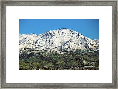 Squaw Butte Framed Print by Robert Bales