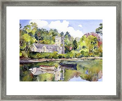 St Just In Roseland Church Framed Print by Margaret Merry