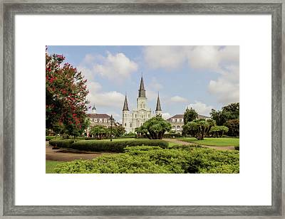 St. Louis Cathedral Framed Print by Scott Pellegrin