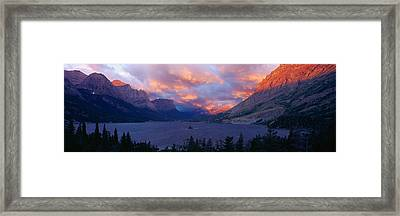 St. Mary Lake, Glacier National Park Framed Print by Panoramic Images
