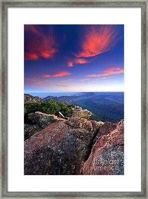 St Mary Peak Sunrise Framed Print