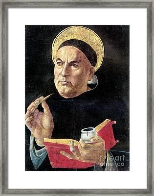 St. Thomas Aquinas Framed Print by Granger