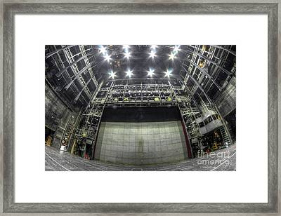 Framed Print featuring the photograph Stage In The Abandoned Theatre by Michal Boubin