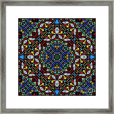 Stained Glass Panel Framed Print by Paul Cummings