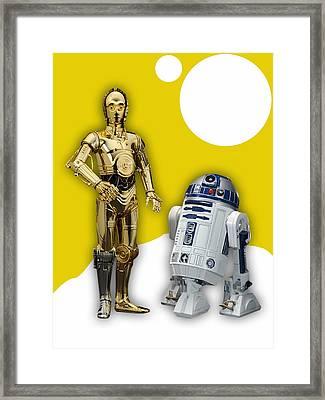 Star Wars C-3po And R2-d2 Framed Print