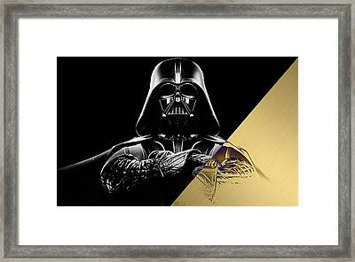 Star Wars Darth Vader Collection Framed Print by Marvin Blaine