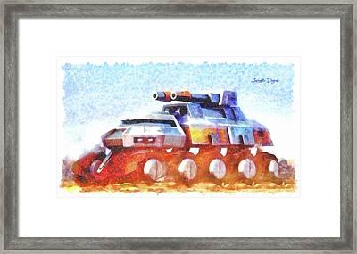 Star Wars Rebel Army Armor Vehicle Framed Print by Leonardo Digenio