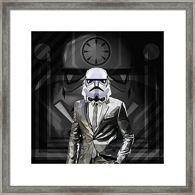 Star Wars Stormtrooper Framed Print by Gallini Design