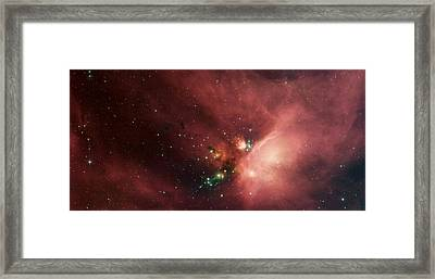 Stars In The Rho Ophiuchi Cloud Complex Framed Print