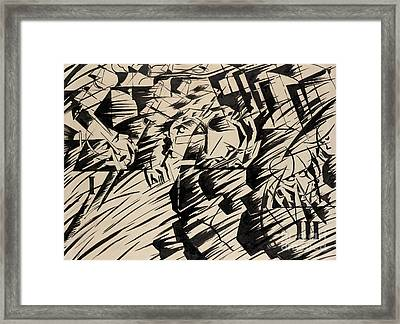States Of Mind Those Who Go Framed Print by Umberto Boccioni