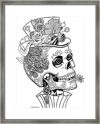 Steampunk Sugar Skull Framed Print