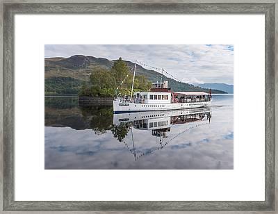Steamship Sir Walter Scott On Loch Katrine Framed Print