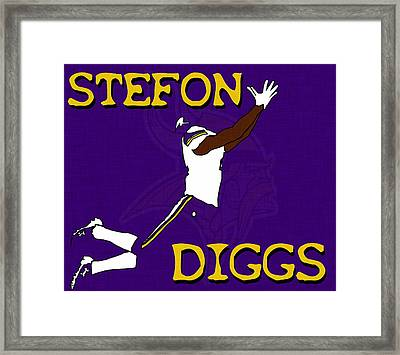Stefon Diggs Framed Print by Kyle West