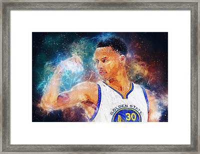 Stephen Curry Framed Print by Taylan Apukovska
