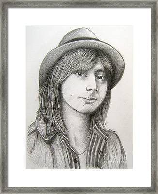 Steve Perry Framed Print by Patrice Torrillo