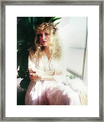 Stevie Nicks 1981 No.3 Framed Print by Chris Walter