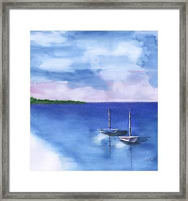 2 Still Boats Framed Print