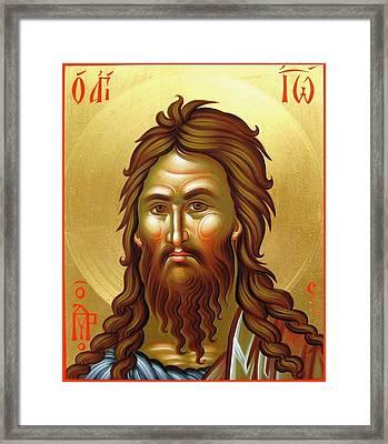 St.john The Baptist Framed Print by Daniel Neculae