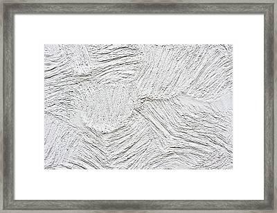 Stone Surface Framed Print by Tom Gowanlock